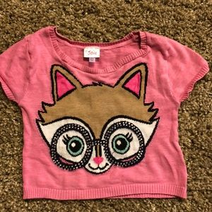 Justice crop sweater cute! Bling size 8